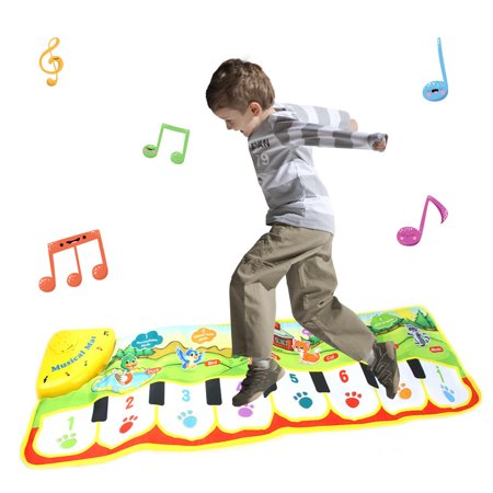 Tuscom New Play Keyboard Musical Music Singing Gym Carpet Mat Best Kids Baby (Best Baby Gym Mat)