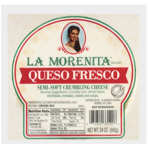 La Morenita Queso Fresco Semi-Soft Crumbling Cheese, 24 oz