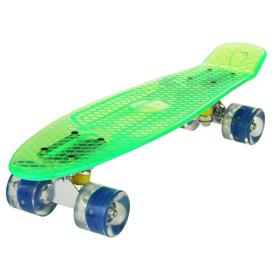 "22""Upgrade Cruiser Crystal Outdoor Complete Skateboard For boys girls by"