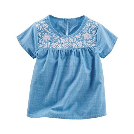 OshKosh B'gosh Little Girls' Embroidered Chambray Top - 3T