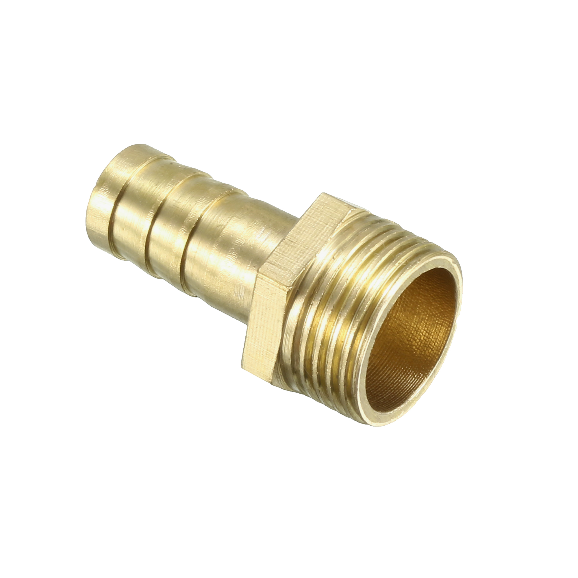Brass Barb Hose Fitting Connector Adapter 10mm Barbed x 3/8 PT Male Pipe - image 4 of 4