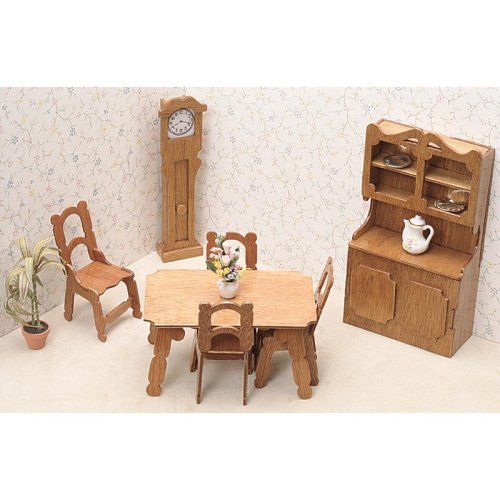 Greenleaf Dining Room Furniture Kit Set - 1 Inch Scale