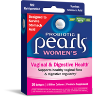 Probiotic Pearls Womens for Vaginal & Digestive Health 30 Softgels