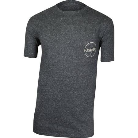 Quiksilver Mens Quik Lightening T-Shirt - Charcoal Heather Gray (Quik Tee)