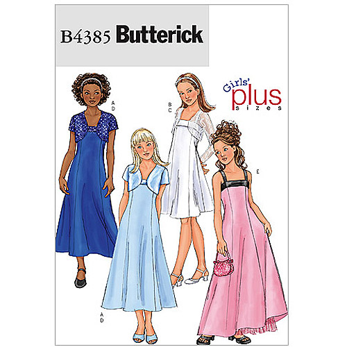 Butterick Pattern Girls' and Girls' Plus Jacket and Dress, Plus (10-1/2, 12-1/2, 14-1/2, 16-1/2)