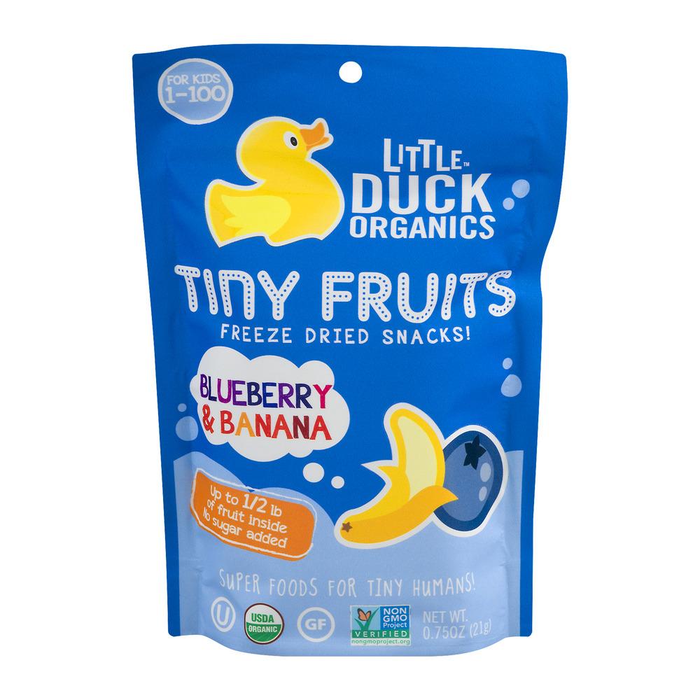 Little Duck Organics Tiny Fruits Freeze Dried Snacks Blueberry & Banana, 0.75 OZ by Little Duck Organics Inc.