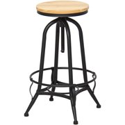 Best Choice Products Height Adjustable Vintage Industrial Style Swivel Metal Counter Height Bar Stool by Best Choice Products