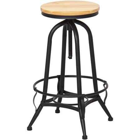 Strange Best Choice Products Height Adjustable Vintage Industrial Style Swivel Metal Counter Height Bar Stool Machost Co Dining Chair Design Ideas Machostcouk