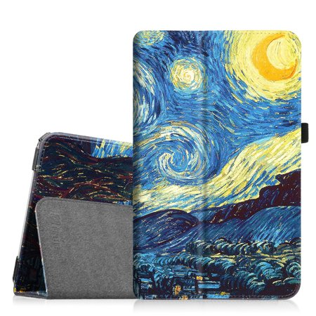For Samsung Galaxy Tab E 9.6 / Samsung Tab E Nook 9.6 Tablet Case - Fintie Slim Fit PU Leather Stand Cover, Starry Night