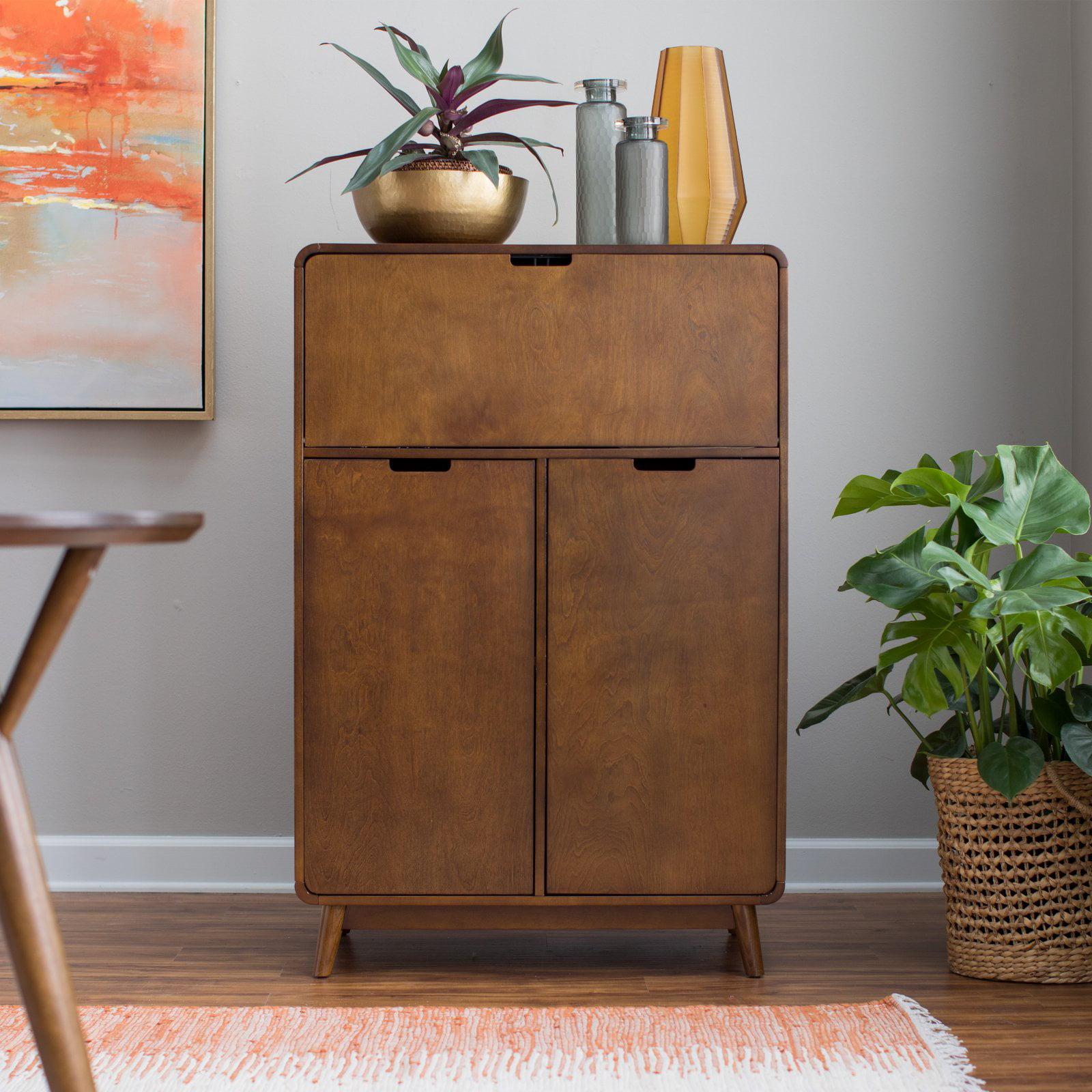 Ebay Bar Furniture: Mini Bar Liquor Cabinet Mid Century Modern Wine Rack