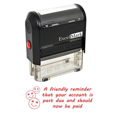 FRIENDLY REMINDER PAST DUE - Self Inking Bill Collection Stamp in Red Ink](Friendly Reminder)