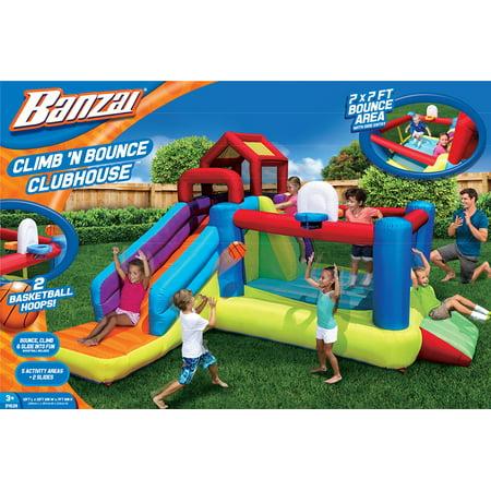 Banzai Climb n Bounce Clubhouse Bounce House