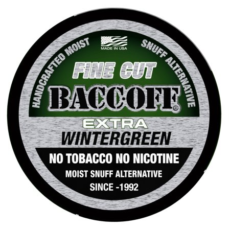 BaccOff, Extra Wintergreen Fine Cut, Premium Tobacco Free, Nicotine Free Snuff Alternative (10 (Best Loose Leaf Chewing Tobacco)