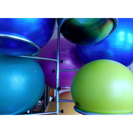 Exercise Ball Posture - LAMINATED POSTER Physio Exercise Ball Medicine Ball Ball Gymnastics Poster Print 24 x 36