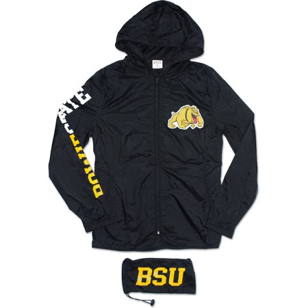 State Bulldogs Pocket - Bowie State Bulldogs Thin & Light Ladies Jacket with Pocket Bag [Black - S]
