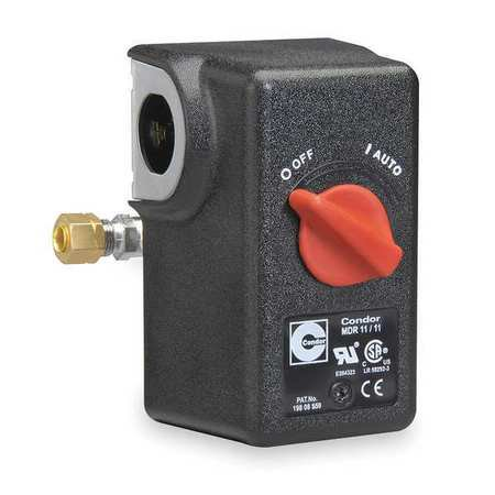 "CONDOR USA, INC 11KA2E Pressure Switch, DPST, 140/175psi, 1/4""FNPT"