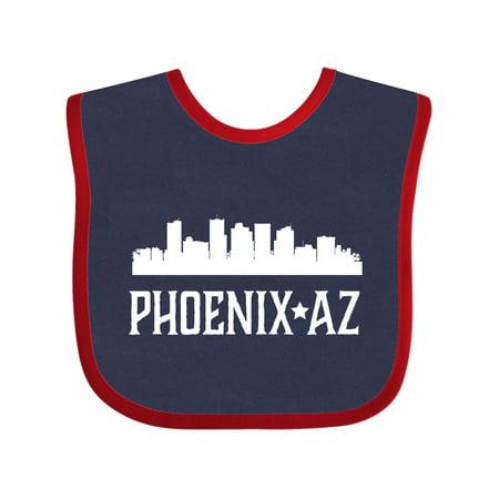 Phoenix Arizona Skyline AZ Cities Baby Bib Navy and Red One Size - Party City Phoenix Az