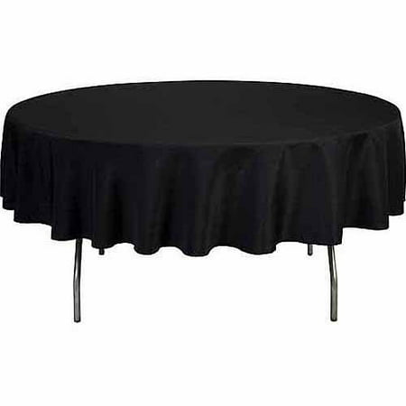 Round 120 Quot Polyester Tablecloth White Walmart Com