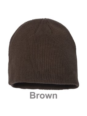 bf41bf1690b098 Product Image Slouchy Unisex Waffle Knit Winter Ski Thick & Warm Beanie Hat  - Brown