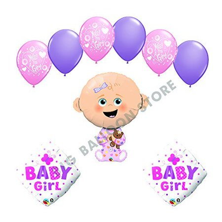Baby Shower Decorating Kit (It's a Girl Yes I'm a Girl baby shower supplies decoration balloon)