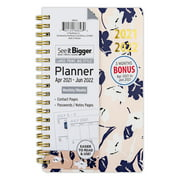 """April 2021 - June 2022 Weekly/Monthly Planner, 4.5""""x6.5"""", See It Bigger, Floral"""