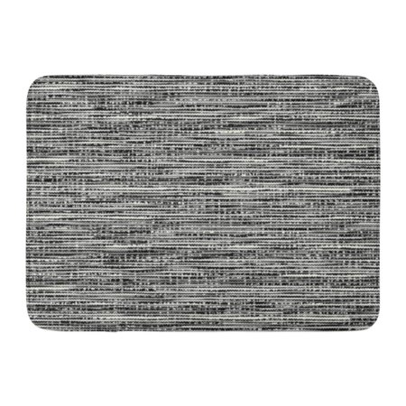 GODPOK Brushed Black Melange Abstract Charcoal Noisy Striped Space Dye White Stripe Creative Rug Doormat Bath Mat 23.6x15.7 inch Brush Loop Mat Charcoal