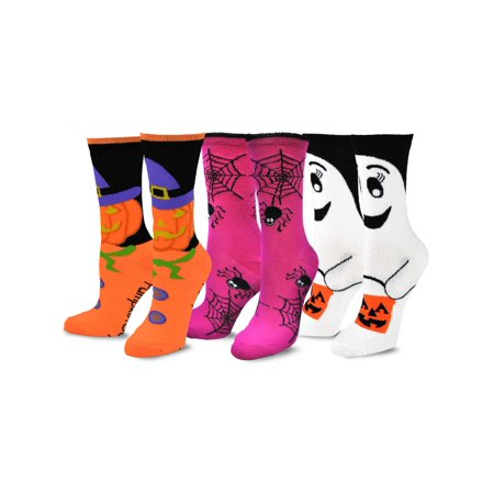 TeeHee Novelty Halloween Crew Socks for Women 3-Pack