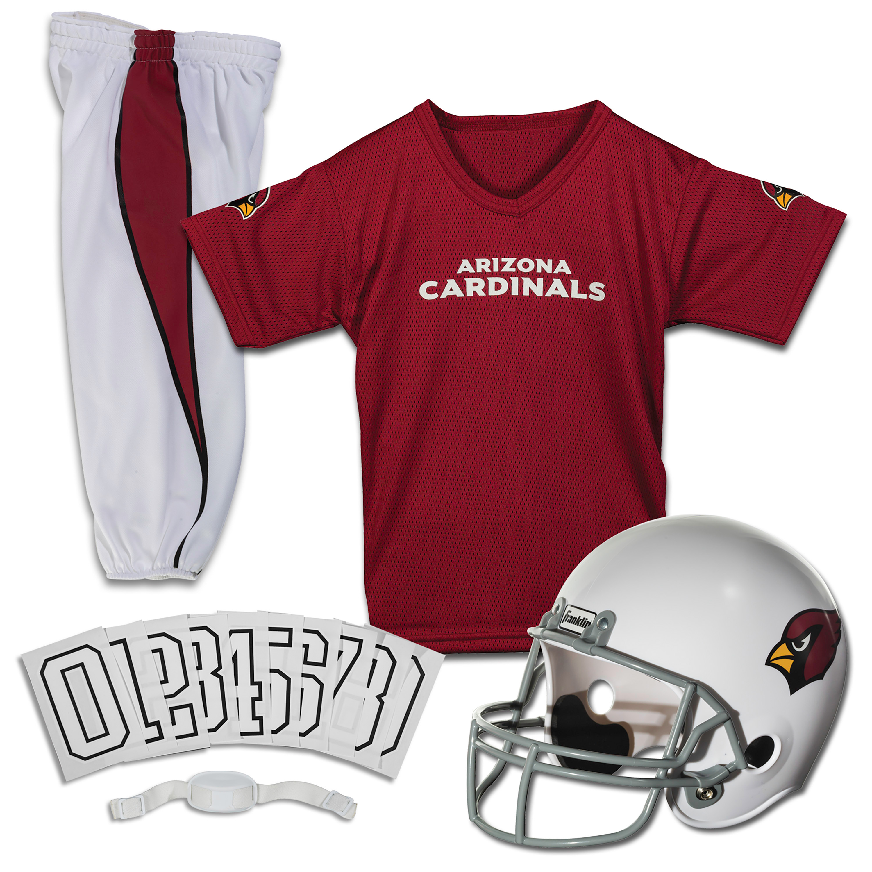Franklin Sports NFL Arizona Cardinals Youth Licensed Deluxe Uniform Set, Medium