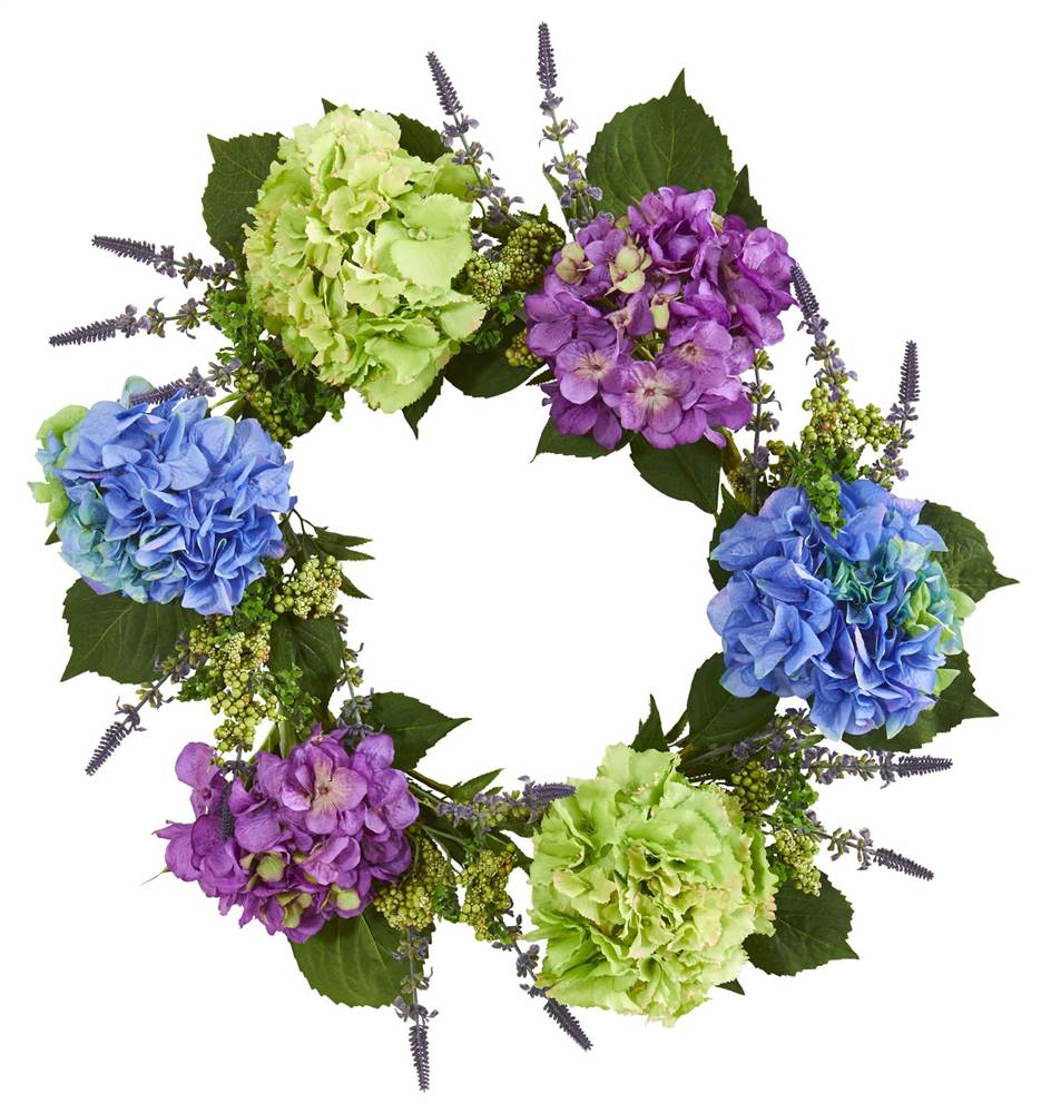 22 Hydrangea Artificial Wreath