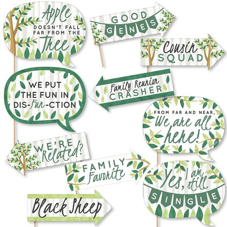 Funny Family Tree Reunion - Family Gathering Party Photo Booth Props Kit - 10 Piece](Family Reunion Banners)