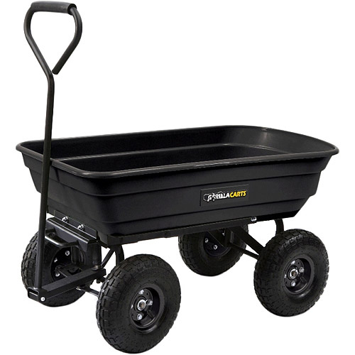 Gorilla Carts GOR200B Garden Dump Cart with Straight Hand...