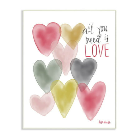 The Stupell Home Decor Collection All You Need Is Love Hearts Wall Plaque Art