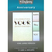 Anniversary - Inspirational Boxed Cards - Floral Caps