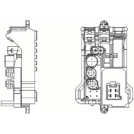 Hella Behr 351321141 HVAC Blower Motor Regulator for