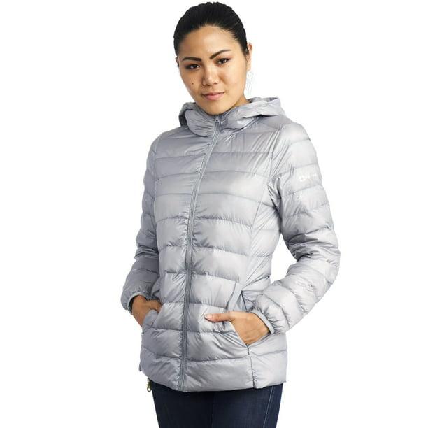down coat : AlpineSwiss Womens Hooded Down Alternative Puffer Jacket Warm Light Bubble Coat
