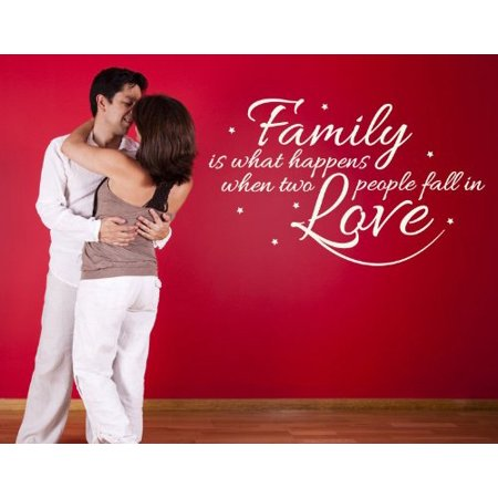 Family is What Happens When Two People Fall in Love wall decal sticker
