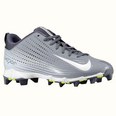 New Nike Vapor Keystone 2 Low BG Size 13C Youth Baseball Cleats Gray/Wht  684692
