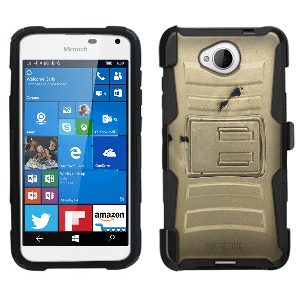 Microsoft Lumia 650 Armor Hybrid Case - Foot Prints in the Sand