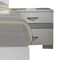 Acme Adair 2-Drawer Nightstand with Hidden Jewelry Drawer in White