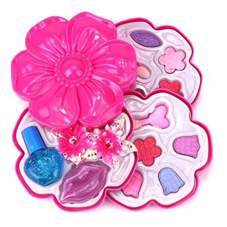 Dream Angel Flower Case Pretend Play Toy Make Up Case Kit, Safe, Non-Toxic, Washable, Formulated for Children](Geisha Hair And Makeup For Halloween)