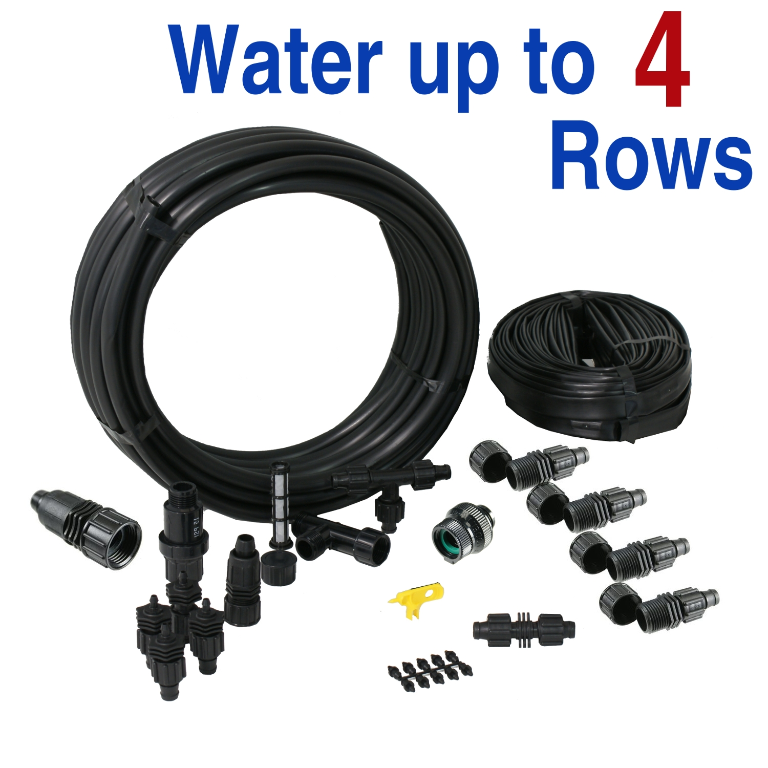 Drip Tape Irrigation Kit for Row Crops & Gardens Standard Size
