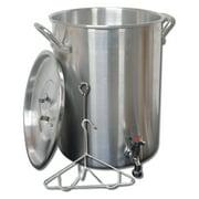 King Kooker 30PKSP Heavy Duty Aluminum Stock Pot with Drain Spigot, 30 Quart