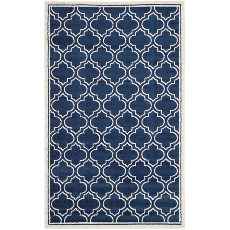 """Safavieh Amherst 2'3"""" X 13' Power Loomed Rug in Navy and Ivory - image 3 of 3"""