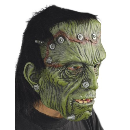 Zagone Glued & Screwed Frankenstein Full Head Mask, Green, O/S](Frankenstein Head Piece)