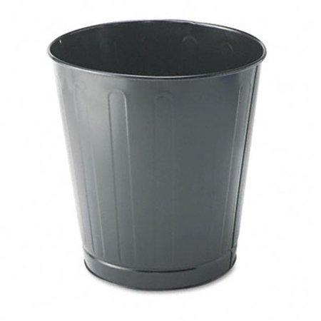 Fire-Safe Wastebasket- Round- Steel- 6 1/2 gal- Gray