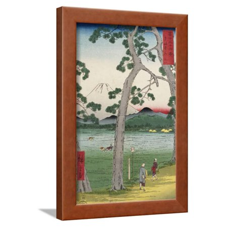 Fuji on the Left of the Tokaido Road, from 'Thirty Six Views of Mount Fuji' Framed Print Wall Art By Ando (Thirty Six Views Of Mount Fuji Prints)