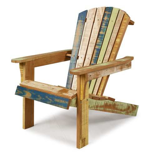 Highland Dunes Charlize Reclaimed Solid Wood Adirondack Chair