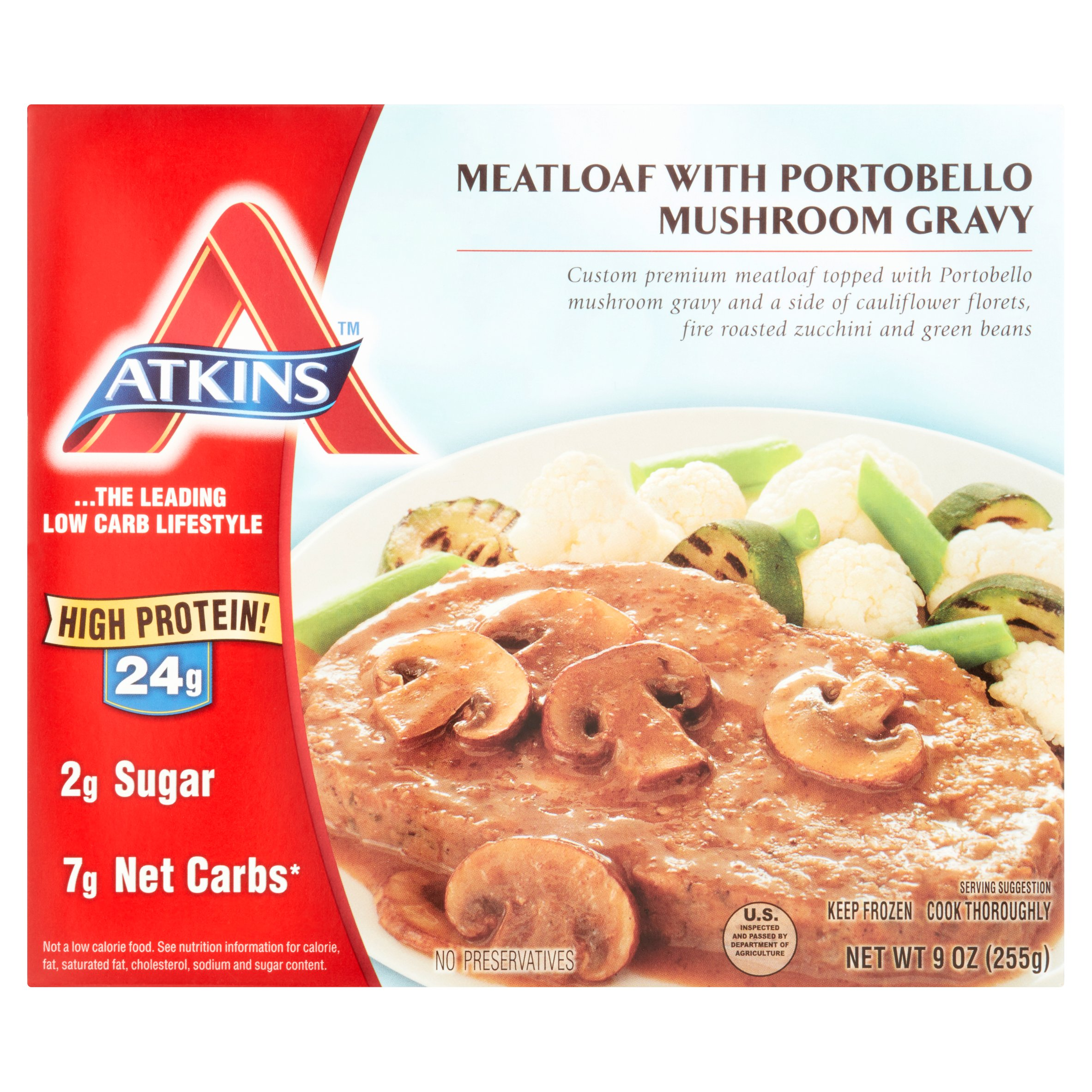 Atkins Meatloaf with Portobello Mushroom Gravy, 9 oz