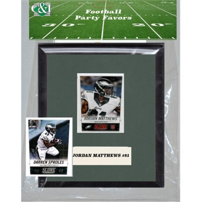 Candlcollectables 67LBEAGLES NFL Philadelphia Eagles Party Favor With 6 x 7 Mat and Frame