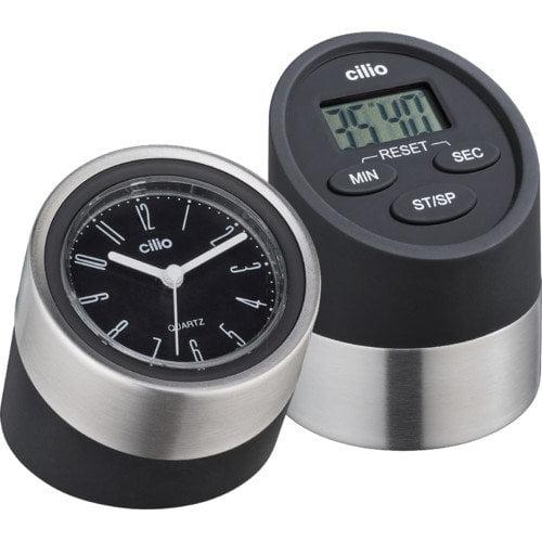Frieling 2 Piece Digital Kitchen Timer and Clock Set